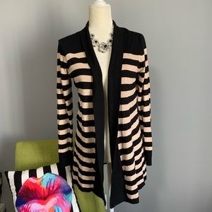 Metaphor Striped Open Cardigan B4